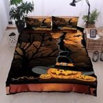 Cute Pumpkin Halloween Printed Bedding Set Bedroom Decor