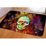 Skull Pint Colors Halloween Printed Doormat Living Room Decor Home Decor