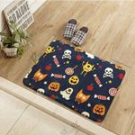 Halloween Skull Candy Pumpkin Pattern Doormat Living Room Home Decor