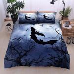 Halloween Dark Printed Bedding Set Bedroom Decor
