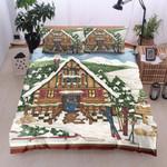 Christmas House Printed Bedding Set Bedroom Decor
