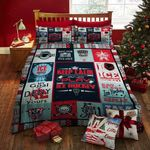 Keep Calm And Play Ice Hockey Printed Bedding Set Bedroom Decor