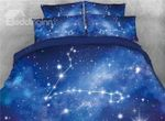 Galaxy Pisces Star Printed Bedding Set Bedroom Decor