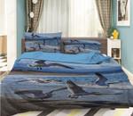 Seabird Flying Printed Bedding Set Bedroom Decor