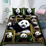 Cool Panda Printed Bedding Set Bedroom Decor