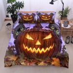 Cats Halloween Pumskin Printed Bedding Set Bedroom Decor