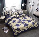 Turtle Palm Leaf Pattern Printed Bedding Set Bedroom Decor