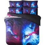 Mystic Wolf Printed Bedding Set Bedroom Decor