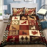 Deer Area Pattern Printed Bedding Set Bedroom Decor