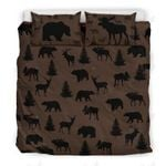 Animal Rustic Pattern Printed Bedding Set Bedroom Decor