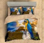 Parrot Sunset Printed Bedding Set Bedroom Decor