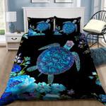 Beautiful Turtle Flower Printed Bedding Set Bedroom Decor