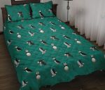 Puffin Green Pattern Printed Bedding Set Bedroom Decor