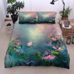 Lotus Firefly Printed Bedding Set Bedroom Decor