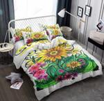 Sunflower Color Printed Bedding Set Bedroom Decor