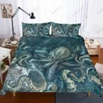 Angry Octopus Printed Bedding Set Bedroom Decor