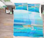 Blue Sea Printed Bedding Set Bedroom Decor