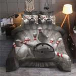Bowling Sport Inspirit Printed Bedding Set Bedroom Decor