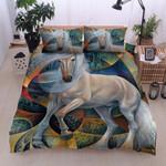 Horse Colors Printed Bedding Set Bedroom Decor