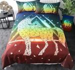 Geometric Unicorn Printed Bedding Set Bedroom Decor