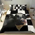 Caro Cow Black Printed Bedding Set Bedroom Decor