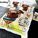 Pug Tribal Printed Bedding Set Bedroom Decor