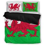 Red Dragon Wales Printed Bedding Set Bedroom Decor