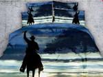 Dark Cowboy Printed Bedding Set Bedroom Decor