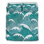Surfing Wave Printed Bedding Set Bedroom Decor