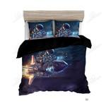 Spaceship Astronaut Printed Bedding Set Bedroom Decor