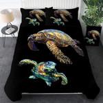 Two Turtles Printed Bedding Set Bedroom Decor