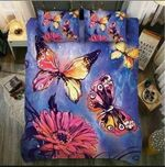 Colorful Butterflies Daisy Printed Bedding Set Bedroom Decor