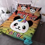 Hello Panda Printed Bedding Set Bedroom Decor