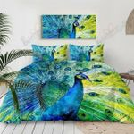 Peacock Tail Printed Bedding Set Bedroom Decor