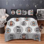 Schnauzer Pattern Printed Bedding Set Bedroom Decor