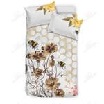 Beekeeping Floral Printed Bedding Set Bedroom Decor
