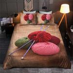 Red Knitting Printed Bedding Set Bedroom Decor