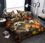 Raccoon Autumn Leaf Printed Bedding Set Bedroom Decor