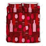 Party Champagne Printed Bedding Set Bedroom Decor