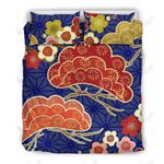 Japanese Floral Printed Bedding Set Bedroom Decor