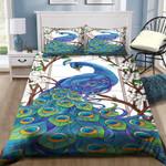 Beauty Peacock Flower Printed Bedding Set Bedroom Decor