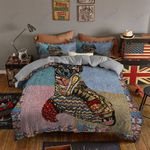 Oriental Fox Vintage Printed Bedding Set Bedroom Decor