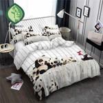 Panda Gray And White Stripes Printed Bedding Set Bedroom Decor