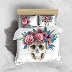 Skull Wreath Printed Bedding Set Bedroom Decor