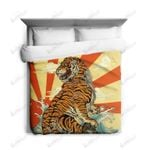 Tiger Great Waves Printed Bedding Set Bedroom Decor