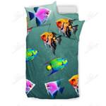 Colorful Angelfish Printed Bedding Set Bedroom Decor