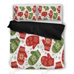 Christmas Gloves Printed Bedding Set Bedroom Decor