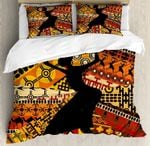 African Black Woman Printed Bedding Set Bedroom Decor