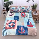 Nautical Sailing Printed Bedding Set Bedroom Decor
