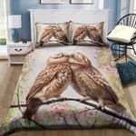 Owl Couple Kissing Printed Bedding Set Bedroom Decor